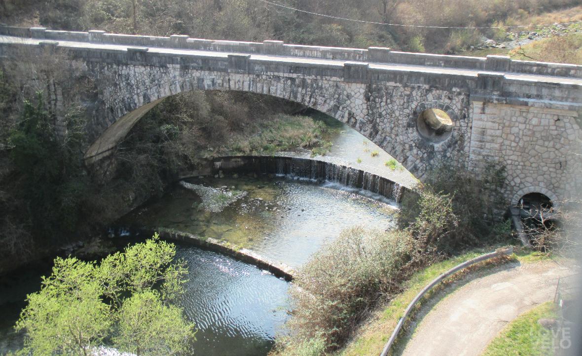 Il torrente Posina all'altezza di Arsiero